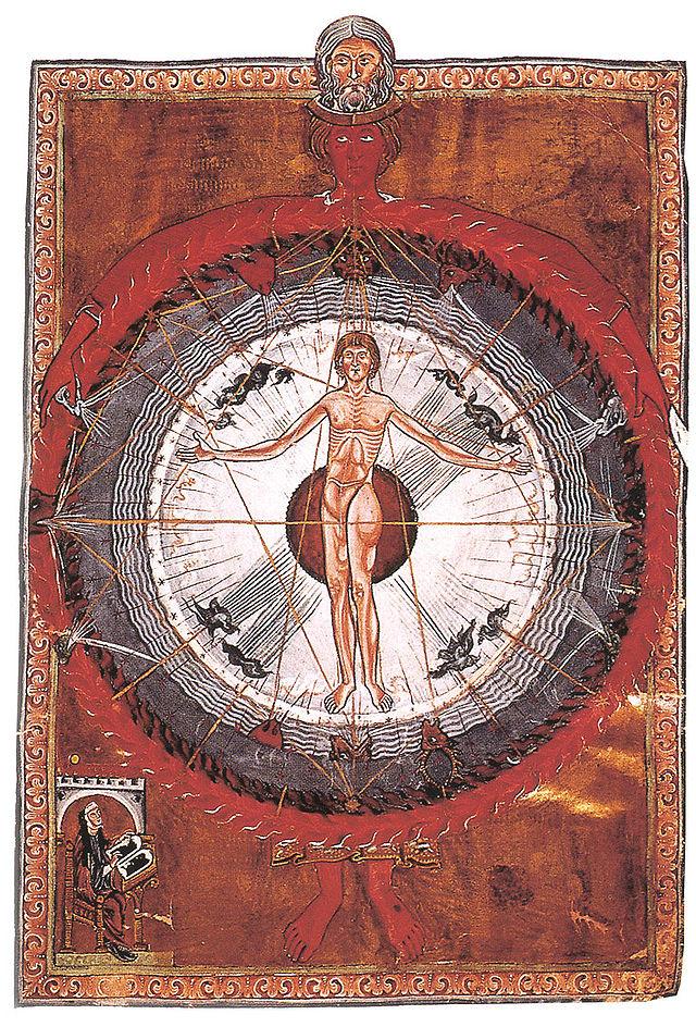 """""""Liber Divinorum Operum"""" von Hildegard von Bingen ~ Lizenziert unter Gemeinfrei über Wikimedia Commons - http://commons.wikimedia.org/wiki/File:Hildegard_von_Bingen_Liber_Divinorum_Operum.jpg"""
