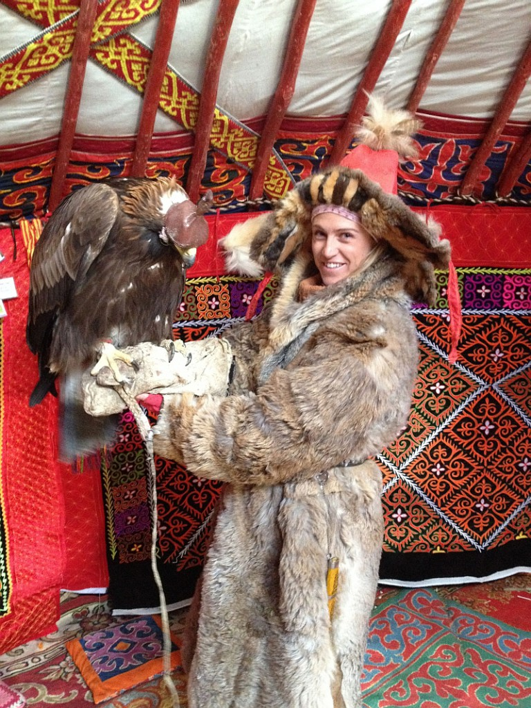 TRAVEL interview Abi Eagle Huntress