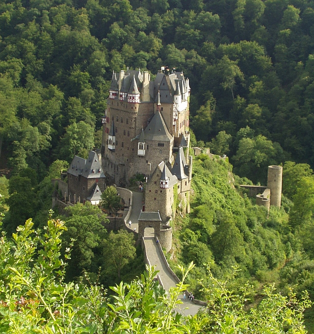 Castle Eltz, a ganerben castle divided between multiple families near Koblenz, Germany [Shared Castle Ganerbenburg]